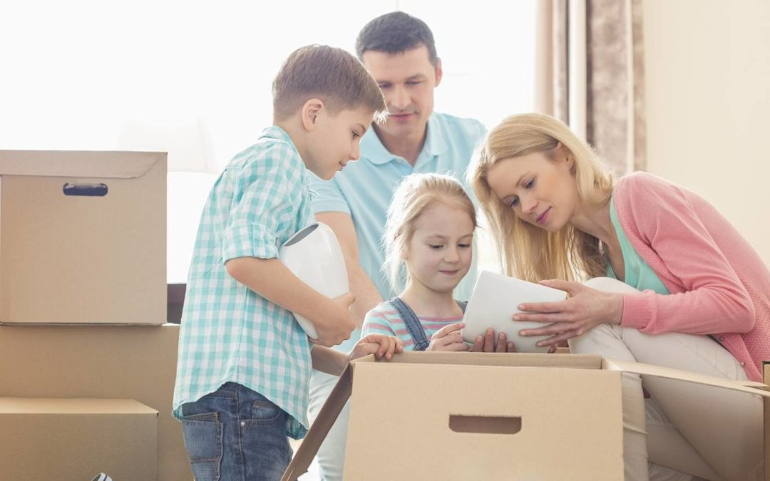 Tips for keeping children busy during a move