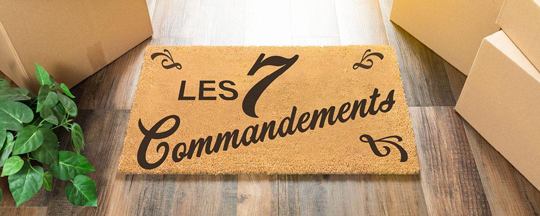 7 commandements du déménagement