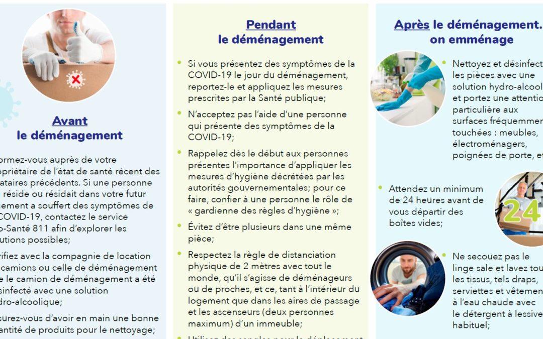 COVID-19 : Guide des bonnes pratiques sanitaires à adopter lors d'un déménagement