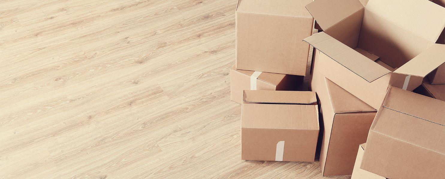 cardboard packaging for a residential move